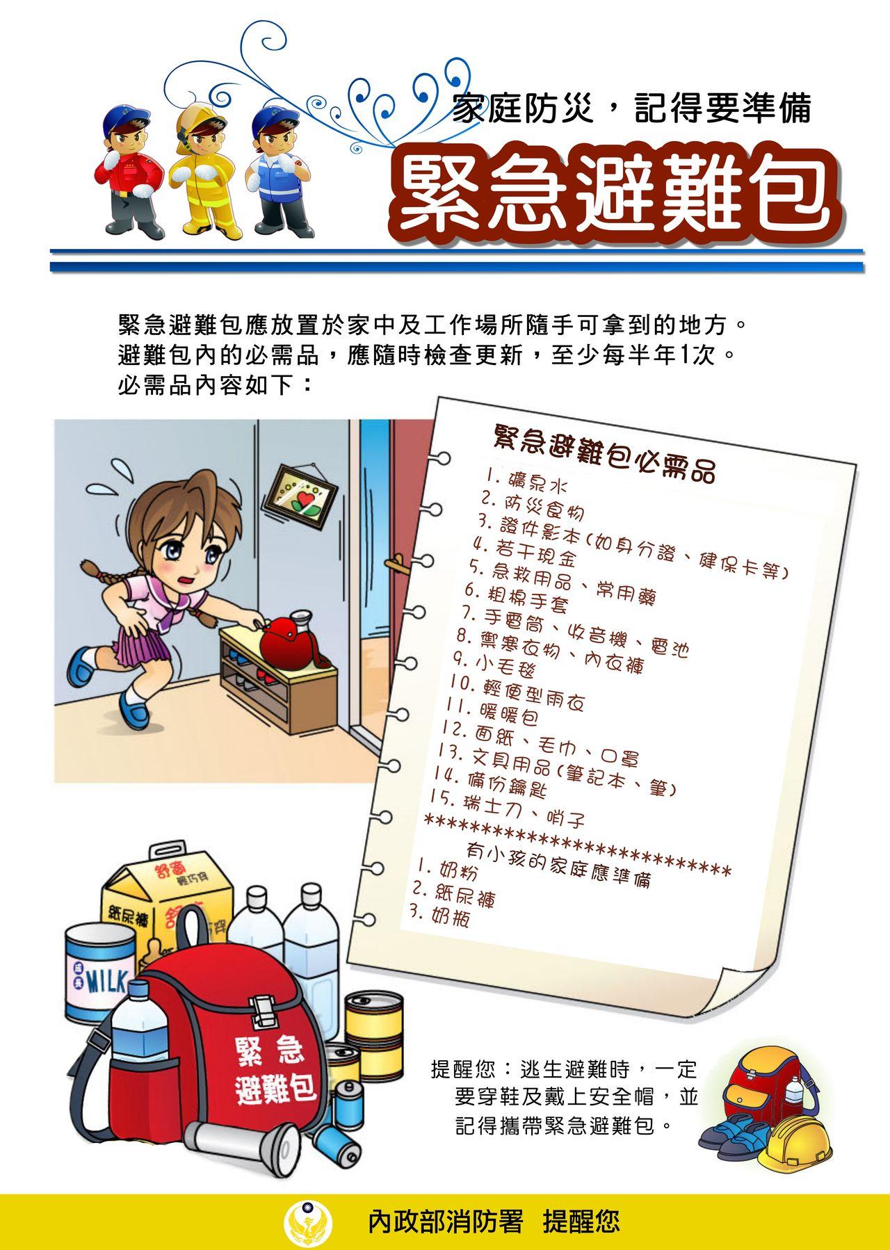 地震包要準備什麼 放哪些東西與內容物